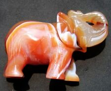 """2.8"""" HUGE Lovely RED AGATE Crystal Carving Elephant"""