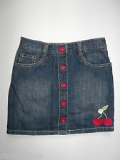 EUC Girls Gymboree Cherry Cute Denim Skort 9 Skirt Wth Shorts
