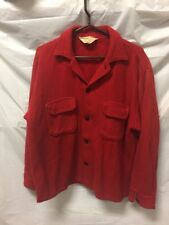 VINTAGE Red Wool Coat Womens Sz S - MADE IN CANADA