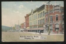 Postcard RIDGWAY Pennsylvania/PA  Main Street Business Storefronts view 1907