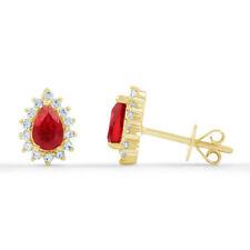 Orecchini di lusso rossi in oro giallo 18 carati