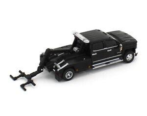 1:64 GreenLight *BLACK* 2018 Silverado 3500 Dually Tow Truck Wrecker *NEW*