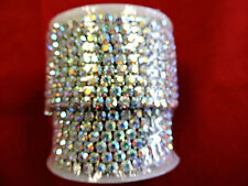 ONE YARD HIGH END SILVER SS18 AB RHINESTONE DESIGNER TRIM 3506-CTR