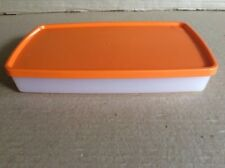 Tupperware ANTARCTICA SNOWFLAKE Orange RECTANGLE 600ml