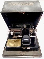 ►Antigua maquina de escribir de punzon  MIGNON nº 3 de 1921  index TYPEWRITER
