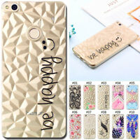 For Huawei Silicone Rubber TPU Clear Skin Case Cover Diamond Soft Pattern Back