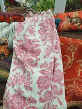 Laura ashley Pr Of Tatton Cerise Lined Curtains 130 In W Each X 60d