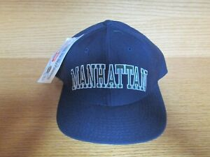 Vintage MANHATTAN College Snapback Hat Cap by STARTER New with Tag