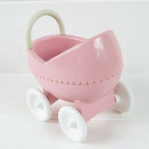 STROLLER / FIGURE / DOG - VINTAGE LITTLE TIKES DOLLHOUSE SIZE ACCESSORY LOT OF 3