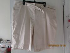 Kim Rogers Ladies Sz 22W Instantly Slims Denim Belted Walking Shorts