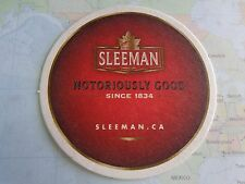 Beer Coaster ~*~ SLEEMAN Brewing & Malting ~ CANADA Since 1834 ~ Seriously Good