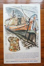 1965 The Waterways John Finnie Underground Tube Original Railway Poster