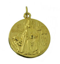St. Saint Dymphna patron mentally ill Anxiety Depression Bipolar 10k Gold charm