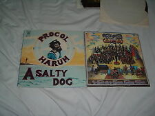PROCOL HARUM A Salty Dog '69 + Edmonton symphony 2LP lot ORIG US pr pre-TROWER