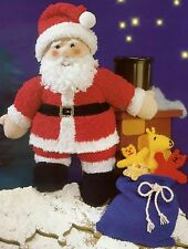 (762) Toy Knitting Pattern for Father Christmas and His Sack