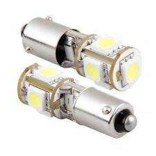 Ampoule H6W LED BAX9S SMD Veilleuses 6000K Canbus Phares Feux Auto Moto 2pcs