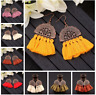 Long Tassel Fringe Drop Dangle Ear Stud Jewelry Women Fashion Bohemian Earrings