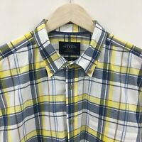 Mens XL CHARLES TYRWHITT Slim Fit Plaid Shirt -SUPERB- 13c