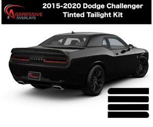 2015-2020 Dodge Challenger Smoked Tail light Tint Film PKG DEAL (20% Dark Smoke)