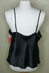 Gilligan & O'Malley Satin Black Camisole XXL Lace Trim New Plus