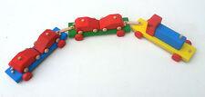 legno giocattolo Trailer & 4 Legno Macchine, Faggio Massiccio & Pino