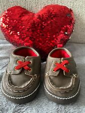 Carter's Baby Boys Brown Shoes Red Laces Slip-On for 3 to 6 Months Size 2