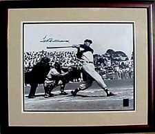 TED WILLIAMS AUTOGRAPH 16X20 1950 SPRING TRAINING COA GREEN DIAMOND #9 HOLOGRAM