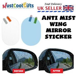 Anti Fog Car Wing Mirror Rainproof Anti Water Mist Film 2Pcs Clear vision UK