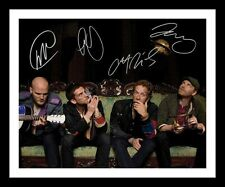 COLDPLAY AUTOGRAPHED SIGNED & FRAMED PP POSTER PHOTO