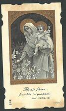 Estampa antigua de la Virgen andachtsbild santino holy card santini
