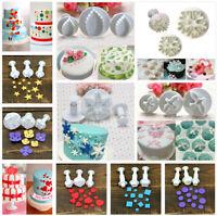 3Pcs/Set Fondant Cake Cutter Plunger Cookie Mold Sugarcraft Decorating Mould DIY