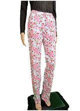 GAULTIER LUX Design Femme Fashion Imprimé Floral Casual Pantalon Pantalon Sz 27 AN82