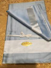 Hand Hammed BELGIUM COTTON DAMASK 4 Blue DINNER NAPKINS & Table Linen/Cover*