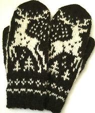 XL Hand Knitted Hand Knit Fair Isle Men's Gloves Mittens Cashmere Alpaca Merino