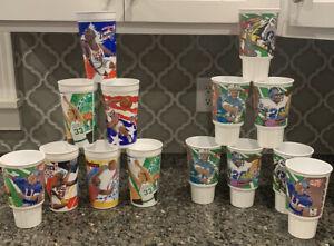 Vtg Lot Of 14 McDonald's NFL Player Looney Tunes NBA Dream Team Promo Cups EUC!