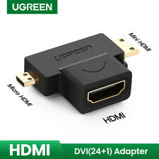 Ugreen 3 in 1 Mini HDMI, Micro HDMI Male to HDMI Female Adapter 1080P for GoPro