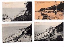 4 x Foto-AK 1909-1919@Sellin Rügen - versch. Strandansichten@Badende Strandkörbe