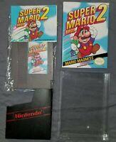 Super Mario Bros. 2 (Nintendo Entertainment System,1988) NES Complete Box Manual