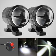 2pcs Motorcycle CREE 12W U1 LED Driving Fog Head Spot Light White Lamp Headlight