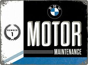 BMW Garage Atelier Commerçant Affiche Dealer Service Moteur Publicité Plaque 089