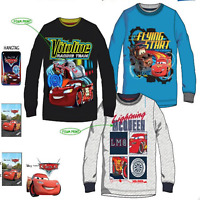 Kids Boys Mcqueen Pixar Cars Disney Characters Long Sleeves T.shirt Top 3 4 6 8Y