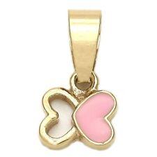 Heart-Butterfly Pendant ! Beautiful Pink Two