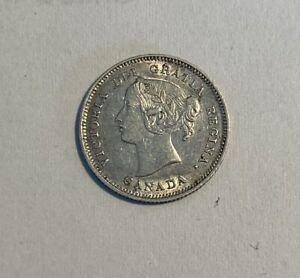 CANADA - Queen Victoria - 5 Cents 1900 - Silver Coin