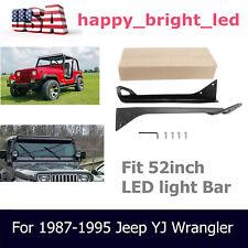 For 1987-1995 Jeep YJ Wrangler Mounting Bracket Fits 52inch LED Light Bar