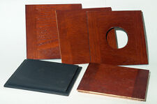 "1 Wooden Lensboard 4.25"" Sq. for Kodak/Folmer Graflex ""Clinical View"" 5x7 camera"