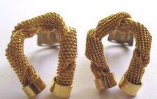 boucles d'oreilles clips bijou vintage fer à cheval anciennes couleur or  *3502