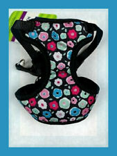 Top Paw Black Soft Dog Harness Blue Pink Green Red Donut Flowers XXS