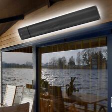 Infrarot Heizstrahler 1,8 kW + Fernbedienung Dunkelstrahler Terrassen Heizung