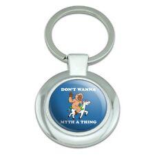 Don't Wanna Myth Thing Unicorn Bigfoot Classy Round Plated Metal Keychain