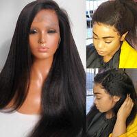 Glueless Full Lace/360 Lace Front Wig Yaki Kinky Brazilian Human Hair Wigs KJ11